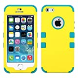 MYBAT Rubberized TUFF Hybrid Phone Protector Package - Retail Packaging - Yellow/Tropical Teal