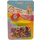 Loom Super Value 10,000 loom Bands including exclusive Colours inside Box + 680 S Clips + 34 plastic Crochet (Multicoloured Bands) (Multicoloured)