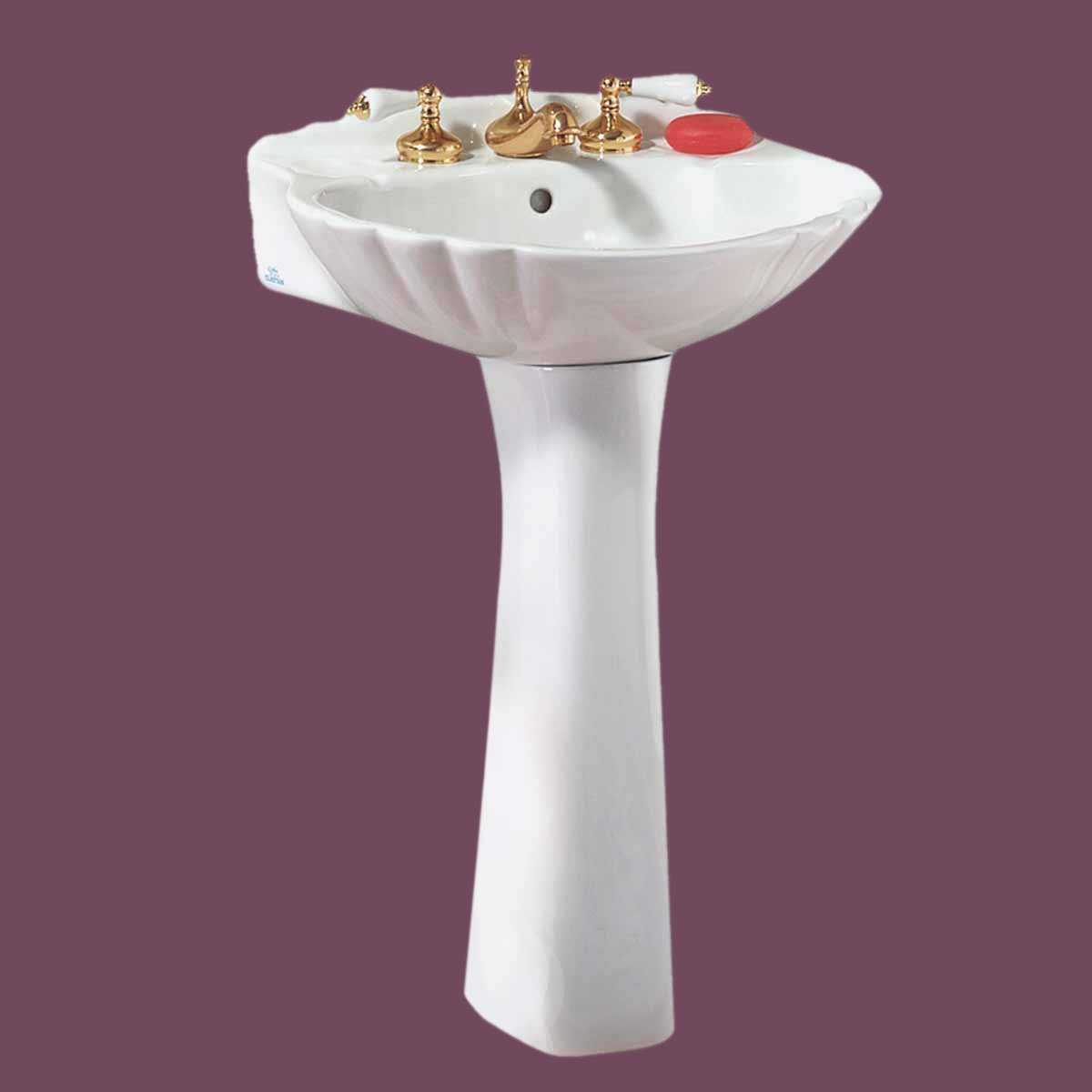 Pedestal Sink Medium White Grade A Vitreous China