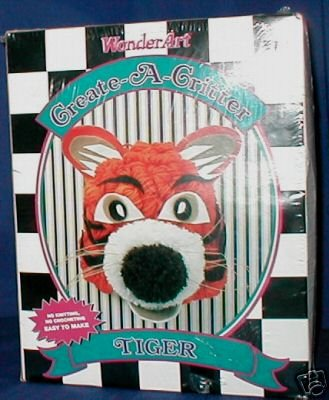 Wonder Art kit Create-A-Critter (Tiger) - New In Box