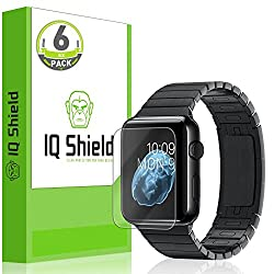 IQ Shield LiQuidSkin - [6-PACK] Apple Watch 38mm Screen Protector with Lifetime Replacement Warranty - High Definition (HD) Ultra Clear Smart Film - Premium Protective Screen Guard - Extremely Smooth / Self-Healing / Bubble-F