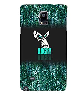 PrintDhaba Angry Face D-4972 Back Case Cover for SAMSUNG GALAXY NOTE 2 (Multi-Coloured)