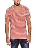 PAUL STRAGAS Camiseta Manga Corta (Gris / Rojo)