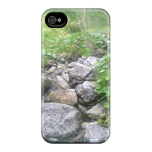 High Quality Shock Absorbing Case For Iphone 4/4S-God Create Blu River back-1059565