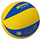 ミカサソフトバレーボールイエローブルー ファミリー・トリムの部試合球 MS-M78-YBL