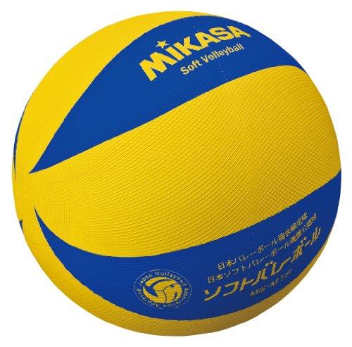 ミカサソフトバレーボール yellow blue family and trim, game ball MS-M78-YBL