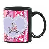 Printland Be My Ride Valentine day Black Coffee Mug 350 - ml PMBA5042