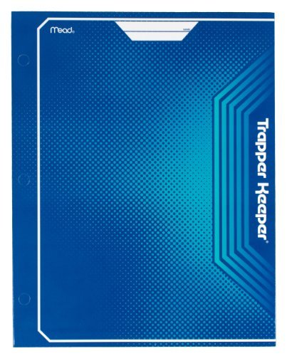 mead-trapper-keeper-2-pocket-portfolio-12-x-938-x-12-inches-blue-72646-by-mead