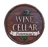 51VEMhb89bL. SL160  Personalized Wine Cellar Round Plaque