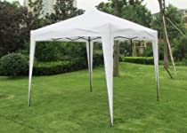 Exacme 8x8/10x10 ft White Ez POP up Canopy Party Light Tent Gazebo with Carrying Bag