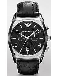 Emporio Armani Classic Black Leather Men's Watch AR0347