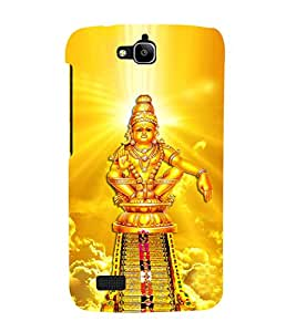 Lord Ayyappa Cute Fashion 3D Hard Polycarbonate Designer Back Case Cover for Huawei Honor Holly
