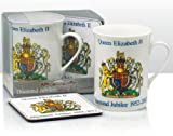 HDIUK Queen Elizabeth II Diamond Jubilee collection Mug and Coaster set