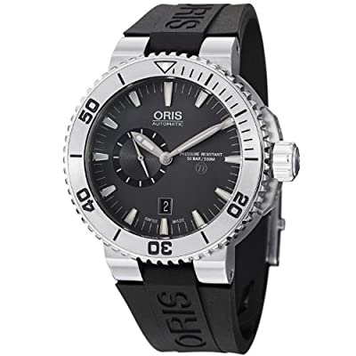 Oris Men's 74376647253RS TT1 diver Analog Display Swiss Automatic Black Watch