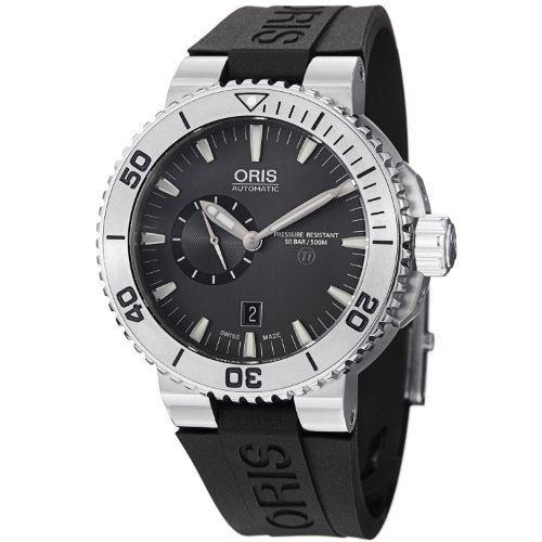 Oris Aquis Black Dial Rubber Automatic Mens Watch 743-7664-7253RS