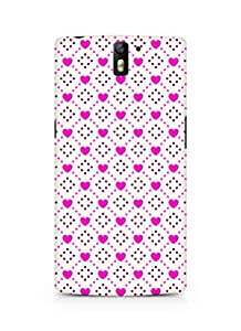 Amez designer printed 3d premium high quality back case cover for Oneplus One (Romantic Pink Color Hearts8)