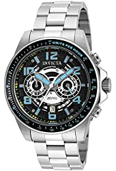 Invicta 19283 47mm Silver Steel Bracelet & Case flame fusion Men's Watch