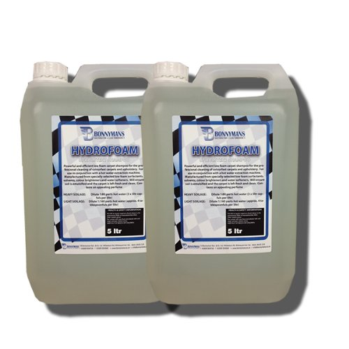 Hydrofoam - Professional Upholstery, Carpet and Fabric Cleaner For Cars and Household - 2 x 5 Litres