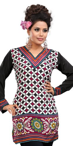 Indian Tunic Top Womens Kurti Printed Blouse India Clothing - 41 ...