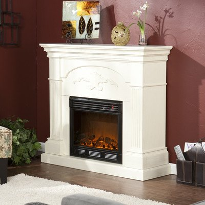 Lincoln Harvest Electric Fireplace Finish: Ivory picture B009DUE4IW.jpg