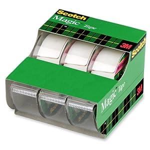 Scotch Magic Tape , 3/4 x 300 Inches, 3 Pack  (3105)