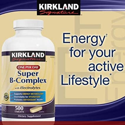 Kirkland Signature One Per Day Super B-Complex with Electrolytes