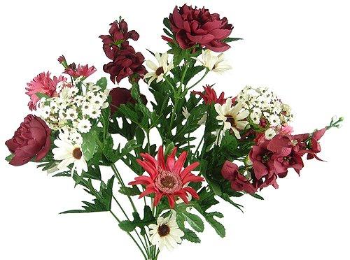 Faux White Amaryllis Silk Flower Stem Silk Wedding Flowers Artificial 28.5 Tall