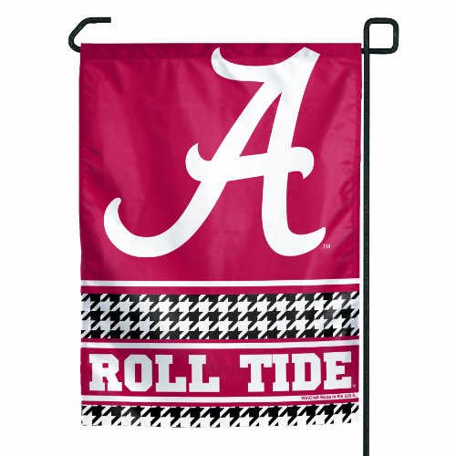 "NCAA Alabama Crimson Tide ""Hounds-tooth"" Garden Flag at Amazon.com"