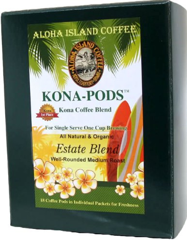Senseo Pods Of Kona Coffee, Estate Blend Medium Roast Coffee Pods For All Senseo-Type Pod Brewers, 18 Pods, Reusable Adapter Available For K-Cup Brewing front-64665