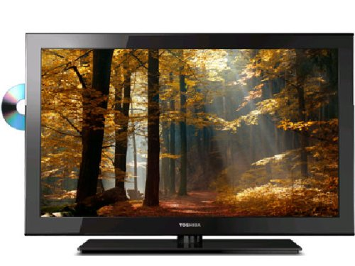51VEcELby8L Toshiba 19SLV411U 19 Inch 720p 60 Hz LED HDTV with Built in DVD Player, Black
