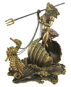 Amazon.com: Greek God of the Sea Poseidon with Trident on ... Посейдон Скульптура