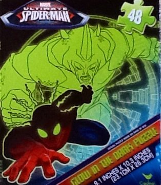 Ultimate Spider-Man Glow In The Dark Jigsaw Puzzle 48 Piece - 1