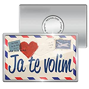 "Amazon.com - Fridge Magnet ""I Love You"" Croatian Love ..."