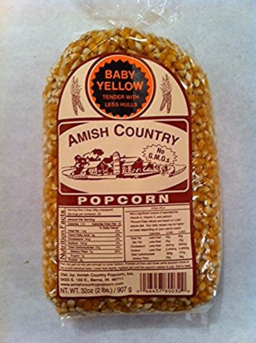 Amish Country Popcorn Baby Yellow 2 Lb Bag (Popcorn Baby compare prices)