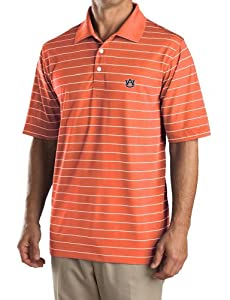 NCAA Mens Auburn Tigers College Orange White Drytec Sweeten Stripe Tee by Cutter & Buck