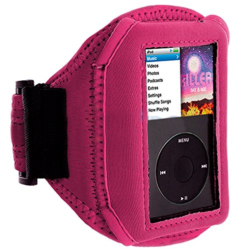 Mylife Hot Pink Velcro Strap Armband For Apple Ipod Classic 1St, 2Nd, 3Rd, 4Th, 5Th, 6Th And 7Th Generation (30Gb/60Gb/80Gb/120Gb/160Gb) front-328072