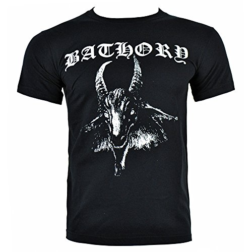 Bathory Goat Uomo Nero Short Sleeve T-Shirt (X-Large)