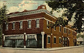 oof hall corner of 18th and lawrence street wichita kansas original vintage postcard at amazon. Black Bedroom Furniture Sets. Home Design Ideas