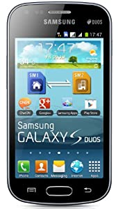"""Samsung Galaxy S DUOS S7562 Unlocked GSM Phone with Dual SIM, Android 4.0 OS, 4"""" Touchscreen, 5MP Camera + Seconday VGA Camera, Video, GPS, Wi-Fi, Bluetooth, Stereo FM Radio, MP3/MP4 Player and microSD Slot - Black"""