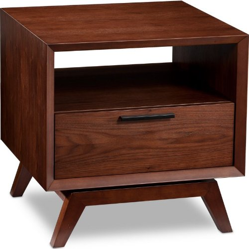 Image of BDI Eras 1446 - Square End Table in Chocolate Walnut Finish (B004WJTIU8)