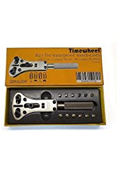 TIMEWHEEL Professional Jaxa Type Watch Case Back Opener Wrench for Waterproof Watches / Change Battery You Self
