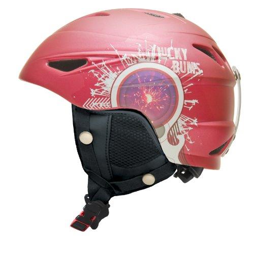 Lucky Bums Alpine Series Firecracker Helmet, Raspberry, Large