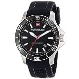 Wenger Men's 0641.103 Sea Force 3 H Analog Display Swiss Quartz Black Watch