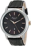 """Kenneth Cole New York Men's KC1953 """"Modern Core"""" Stainless Steel Watch with Brown Leather Strap"""
