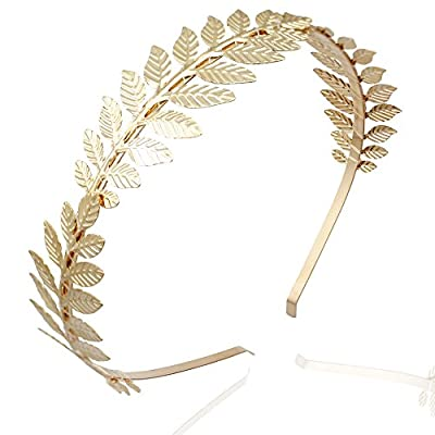 Q&Q Fashion Roman Goddess Leaf Branch Dainty Bridal Hair Crown Head Dress Boho Alice Band