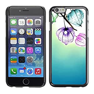 Omega Covers - Snap on Hard Back Case Cover Shell FOR Iphone 6/6S (4.7 INCH) - Flowers Floral Sun Summer Blue Calming