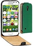 OneFlow Premium FLIP Case / Cover / Schutzhülle - für Samsung Galaxy S4 MINI (GT-i9195) - SMARAGDGRÜN