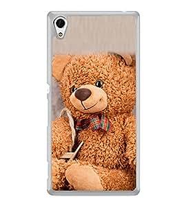 Cute Teddy 2D Hard Polycarbonate Designer Back Case Cover for Sony Xperia Z3+ :: Sony Xperia Z3 Plus :: Sony Xperia Z3+ dual :: Sony Xperia Z3 Plus E6533 E6553 :: Sony Xperia Z4