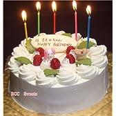 誕生日ケーキ/バースデーケーキ(プレート動物菓子付)生クリームケーキ6号(苺