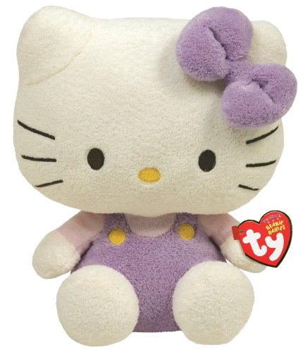 TY 40907 - Peluche di Hello Kitty con salopette, colore:Lavanda/Rosa